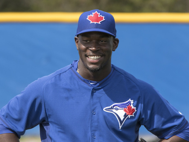 Anthony Alford! Image via John Lott/National Post (http://news.nationalpost.com/sports/mlb/toronto-blue-jays-prospect-anthony-alford-who-aspired-to-be-two-sport-star-now-happy-to-focus-on-just-baseball)